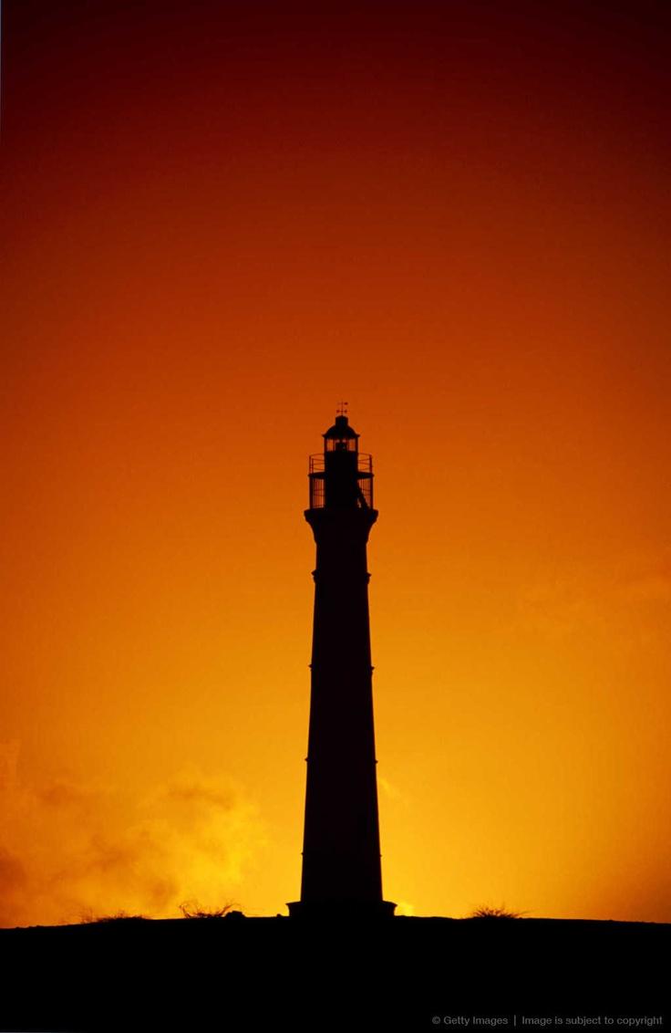 Lighthouse silhouette, Aruba