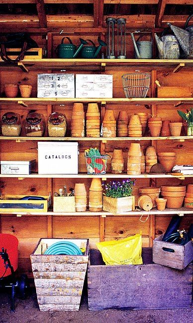 Big or small - your shed can be organized - especially when you go vertical! http://pinterest.com/pin/204632376789170817/ via @Pinterest