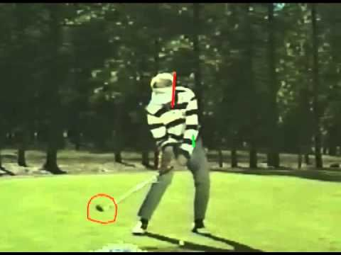 Moe Norman slow motion 7 iron - face on golf swing analysis - Best video quality - YouTube