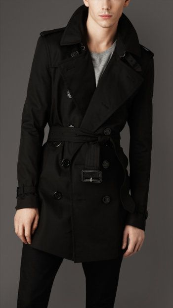 Burberry black trench coats for men. I must have.