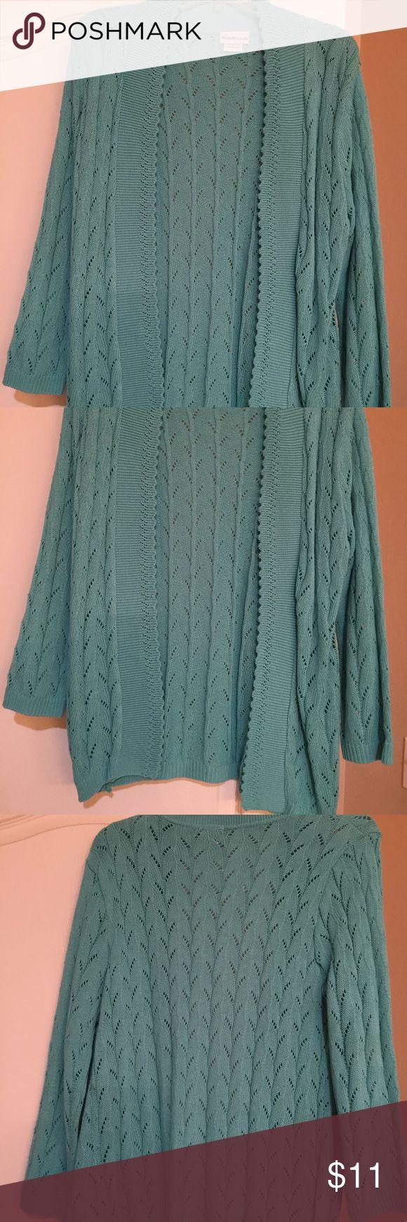 Turquoise cardigan size sm Turquoise cardigan size sm never worn Sweaters Cardigans