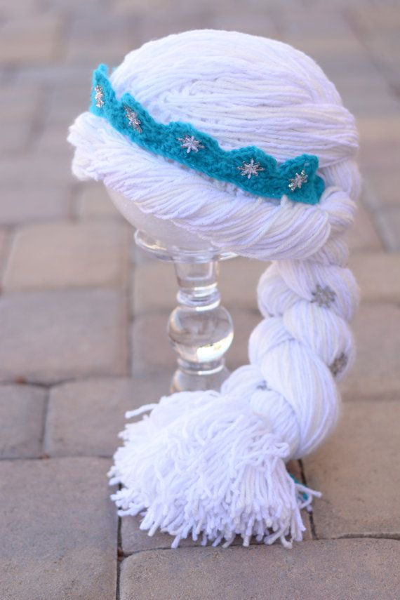 Frozen Elsa crocheted Hat / Wig / Hair by YarnBallBoutique on Etsy
