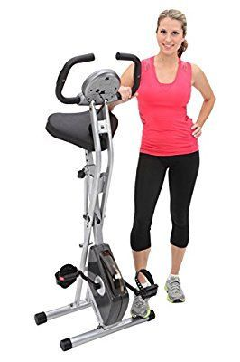 Exerpeutic Folding Magnetic Upright Bike with Pulse (affiliate)