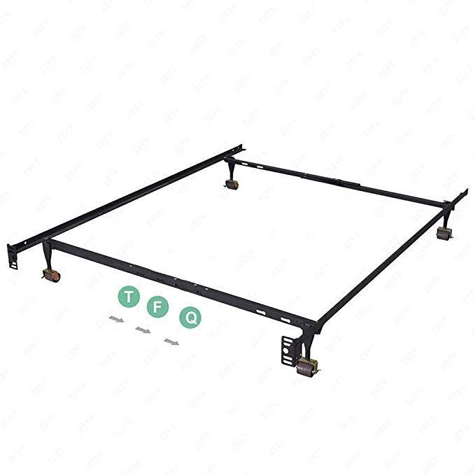 Bed Frame Metal Platform Bed Base Mattress Foundation Adjustable Heavy Duty Fits Twin Full Queen Stee Platform Bed Base Mattress Box Springs Metal Platform Bed