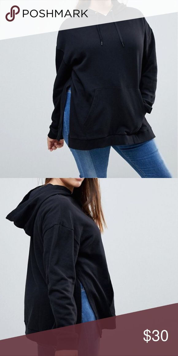 ✅COMING 2/20✅ Cute Hoodie w Side Splits NO LOWESTNO TRADES. Retails $45.  Runs true to size. Material is 100% Cotton.  Wear with leggings or jeans.  Questions welcomed. ASOS Curve Tops Blouses