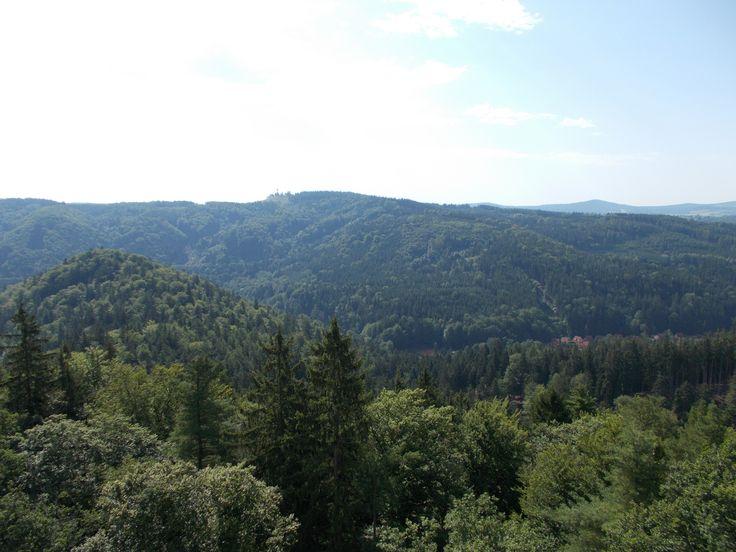 Karlovy Vary,výhled z rozhledny Diana