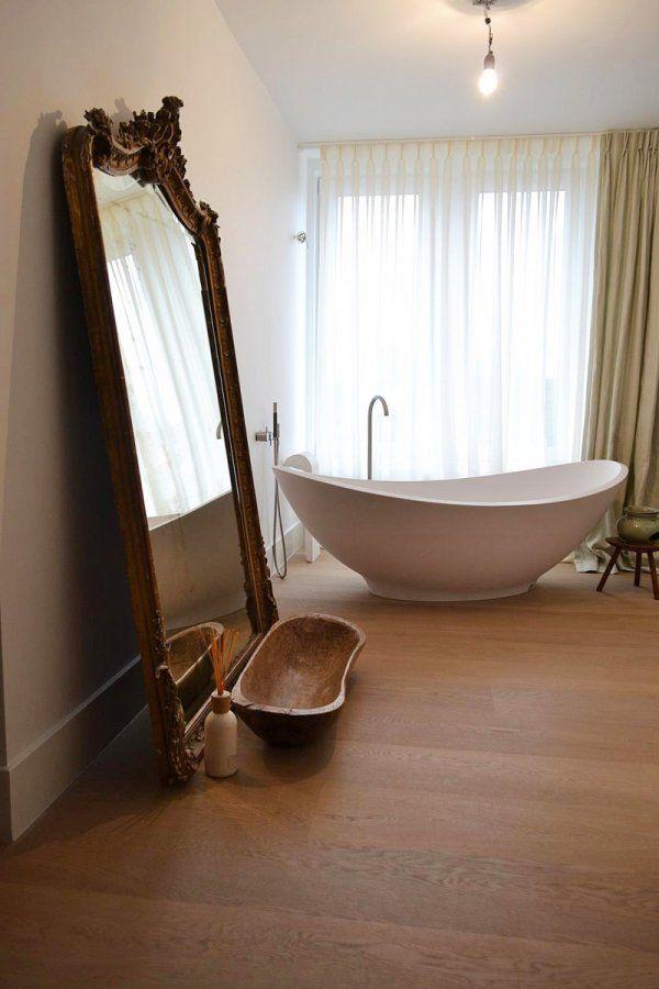 Houten vloer in de badkamer - Loft in Amsterdam