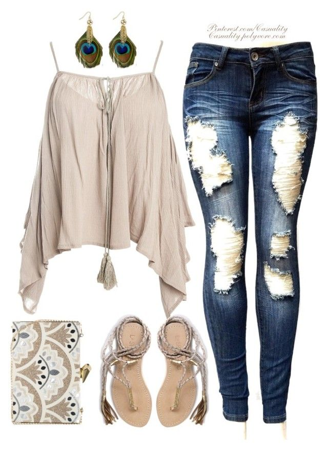 Trapeze Top Boho by casuality on Polyvore featuring Sans Souci, L*Space, KOTUR and Thalia Sodi