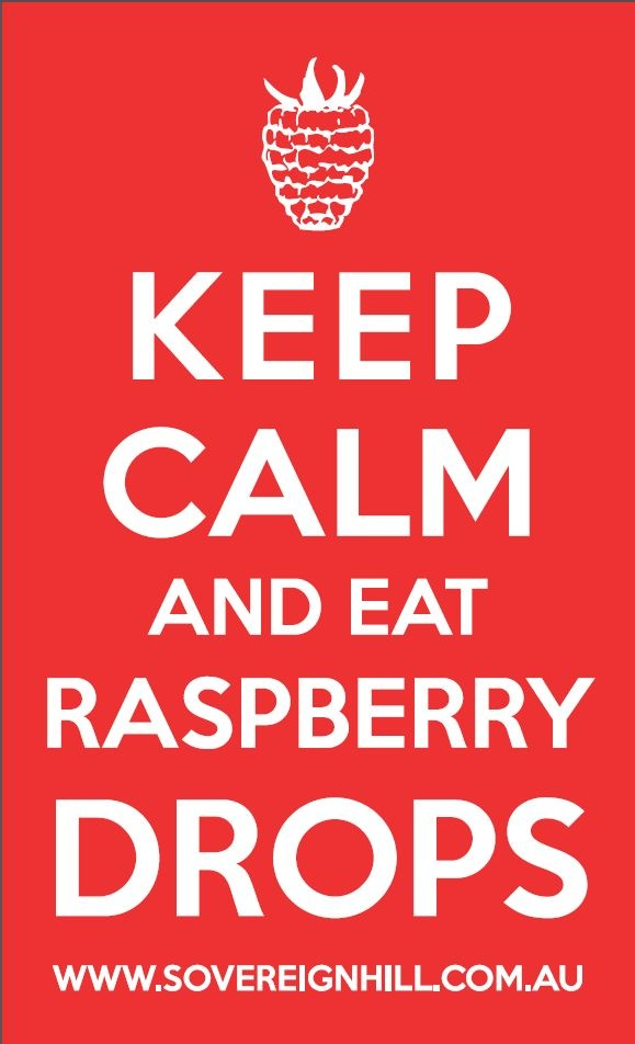 #keepcalm and eat Raspberry Drops