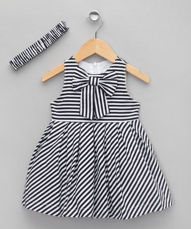 Take a look at this Navy Stripe Dress & Headband - Infant, Toddler & Girls by Lolipop Bebe on #zulily today! $19.99
