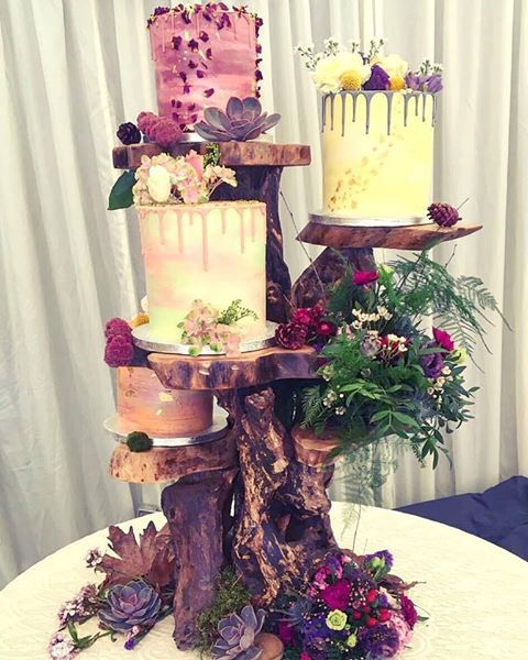 May Wedding - Woodland Glamour! Cakes by Vic's Vegan Bakes