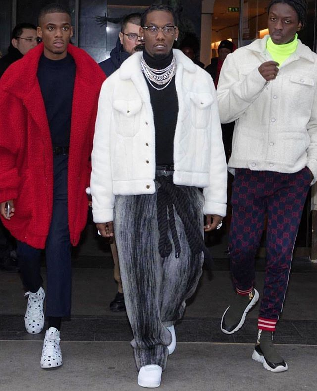 Offset Paris Offsetyrn Louisvuitton Offset In Paris For A Early Fashionweek Session Wearing A Awesome Louisvuitton J With Images How To Wear Fashion Fashion Week