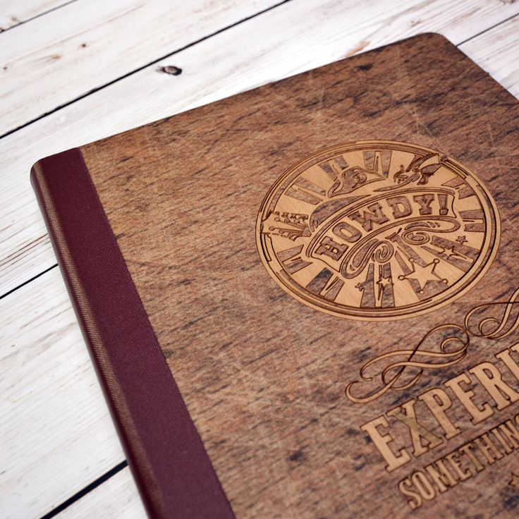 Digitally printed with any design, these wooden veneer menu covers are great for a personalised rustic touch.