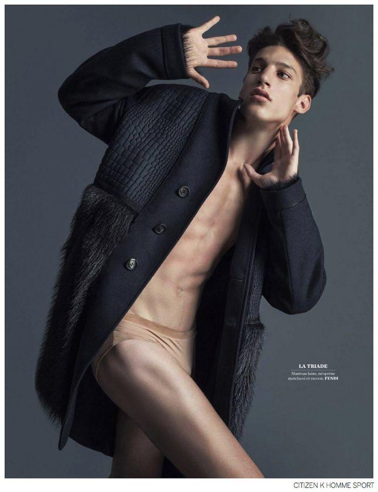 Iasonas Laios + Lucas Mikulski Go Nude for Fendi Fall 2014 Editorial in Citizen K Homme Sport image Citizen K Homme Sport Fendi Fall 2014 Fashion Editorial 002