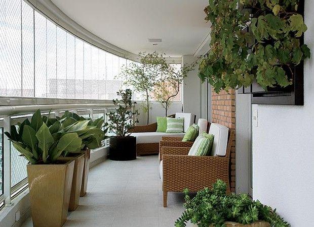 XX (Foto: Casa e Jardim)Ideas For, Decorar Uma, To Decorate, Decoration,  Terraces, Varanda Gourmet, De Varanda, Apartment, Varanda De