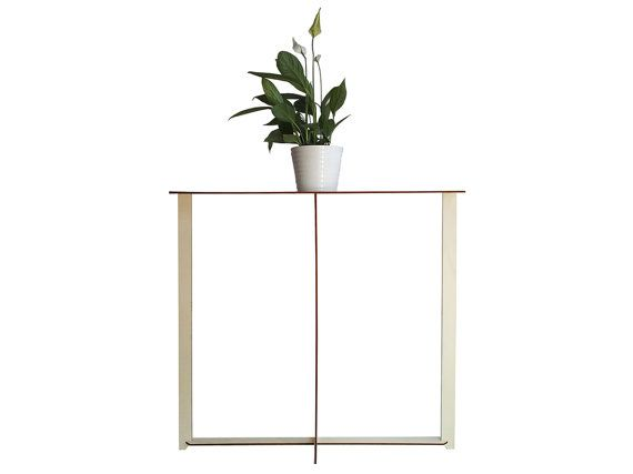 Laser cut wood console tablewooden entry tablemodern console