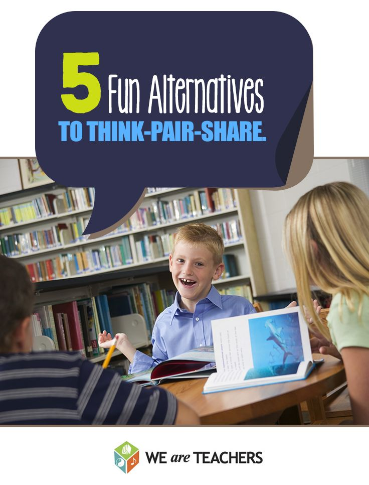 Don't limit partner work to boring Think-Pair-Share. Try these alternatives to 'Think-Pair-Share'.
