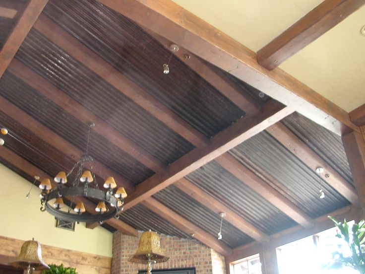 Corrugated Ceiling Panels : Images about corrugated ceiling residential on
