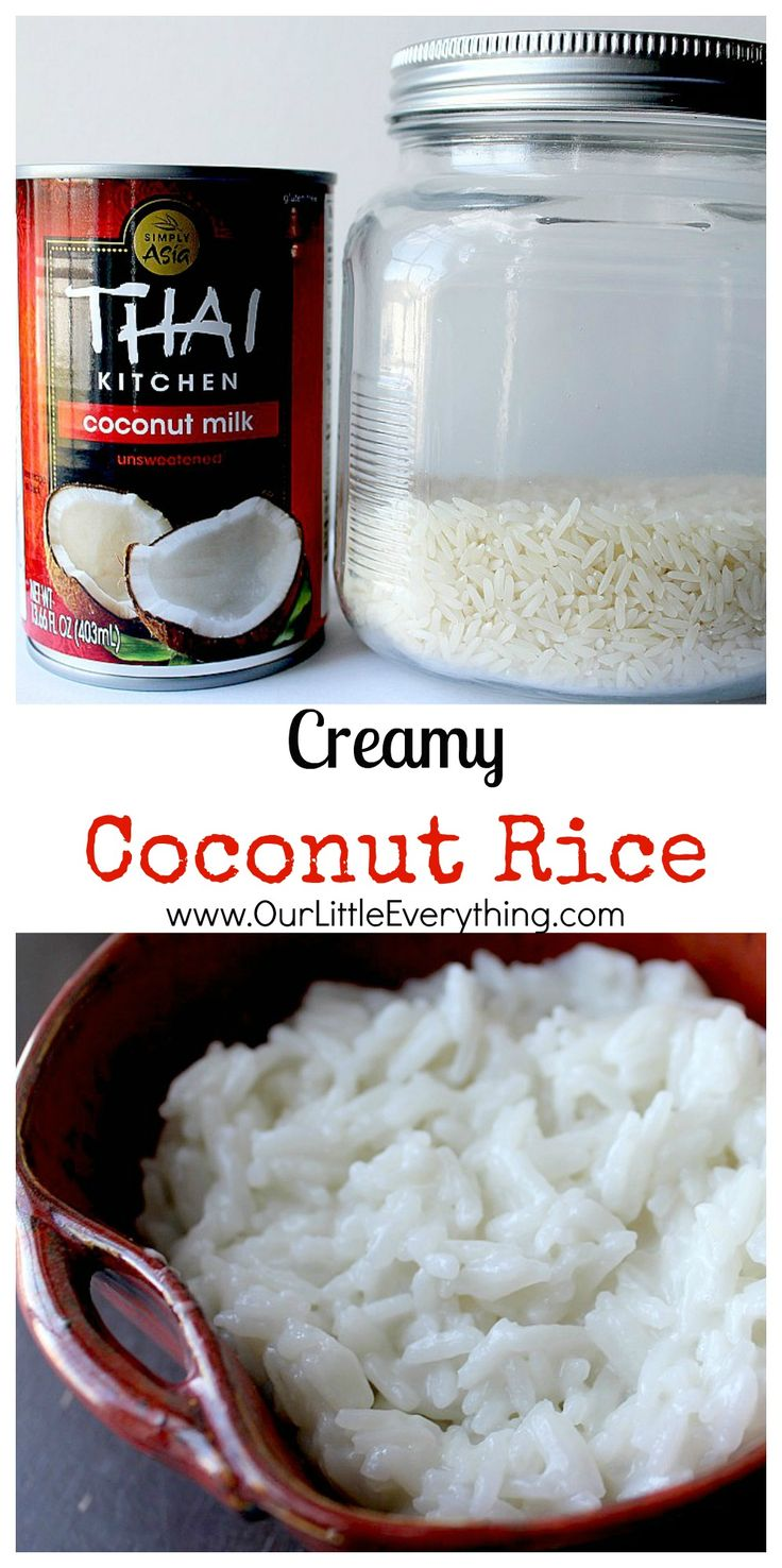 This Creamy Coconut Rice Recipe Is So Easy To Make! The End Result Is Loaded