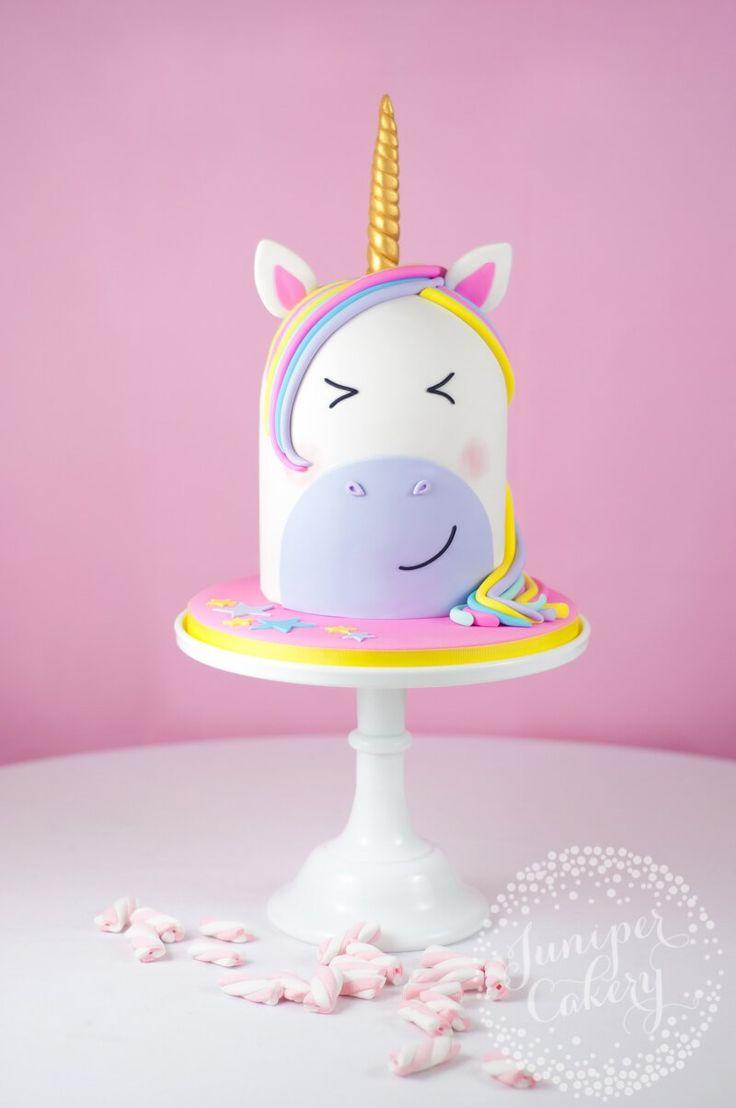 Cute unicorn cake tutorial by Juniper Cakery