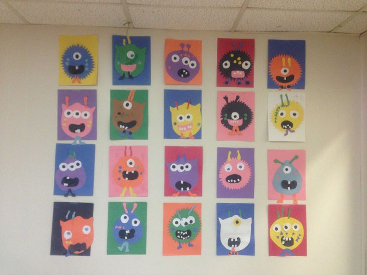 Preschool monster craft