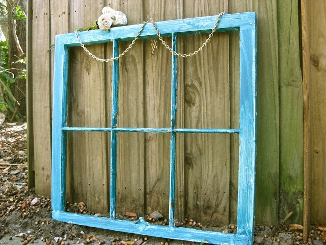 Here are some ideas for what to do with empty frames (window and picture) for those of us who love them.: Frames Window, Color, Crafty, Decoration, Frames Projects, Wooden Window, Old Window, Distressed Window, Window Projects