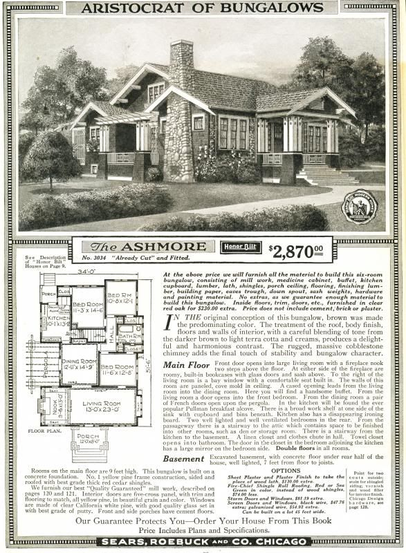 This was a classic Arts and Crafts bungalow (as seen in the 1919 Sears Modern Homes catalog).