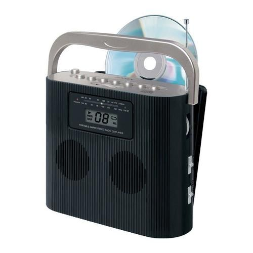 Jensen CD-470BK Portable Stereo Compact Disc Player with AM/FM Radio - CD-470BK