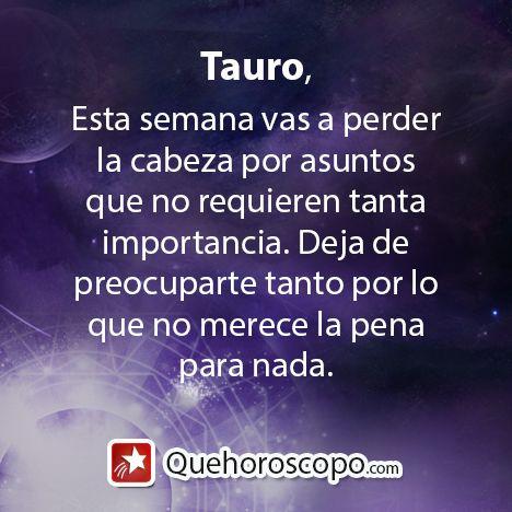 #Horoscopo #Tauro #Amor #Trabajo #Astros #Predicciones #Futuro #Horoscope #Astrology #Love #Jobs #Astrology #Future   http://www.quehoroscopo.com/horoscopodehoy/tauro.html