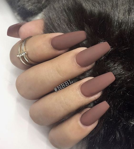 30+ Charming Matte Nail Designs To Try This Fall; Nail designs fall; matte  nails for long or short nails; acrylic matte nails; coffin matte nails; ... - 30+ Charming Matte Nail Designs To Try This Fall Nails Pinterest