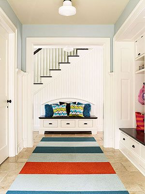 I love the idea of putting carpet tiles together like this!