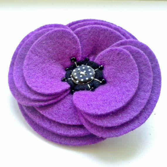 SALE! Felt Flower Corsage - Retro Ripple Felt Pin Brooch by madebylolly WAS £16, NOW £10.00 Many other items with 25% off!