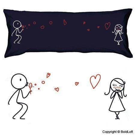 """Boldloft """"From My Heart to Yours"""" Body Pillowcase (Dark Blue)-Romantic Valentines Gifts for Couples,Cute Valentines Day Gift Ideas,Good Couple Gifts for Valentines,Romantic Anniversary Gifts:Amazon:Home & Kitchen"""