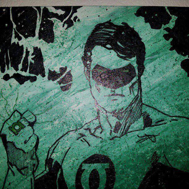 green lantern painting