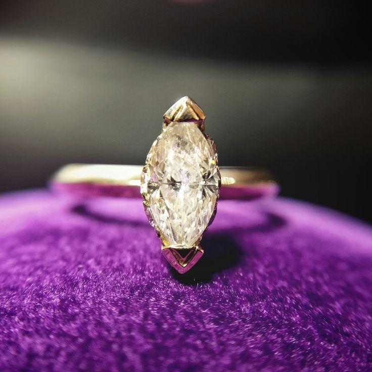 18k Pink Gold Engagement Ring, 3,32gr, with Central Marquise Diamond 0.97ct and Brilliant Cut Diamond Entourage, 0,11ct. Price 10.944 RON  www.adam-eve.ro Adam & Eve Diamonds | Experts in engagement rings  #adamevediamonds #adpersonam #accessories #rings #jewels #jewelrydesign #gems #marriage #gemstone #jewelry #jewellery #gold #jewel #jewelrygram #showmeyourrings #jewelryaddict #finejewelry #ring #diamond #diamonds #engagement #engaged #bridetobe #weddinginspiration #bridal #bride…