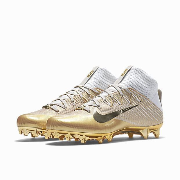 Nike Vapor Untouchable 2 LE Football Cleats SUPERBOWL 50 Size 10.5 Gold w/ BAG