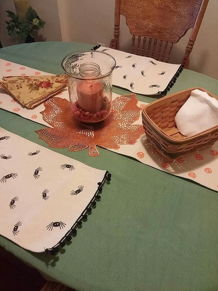 Found these cute place mats and table runner at Target <3!