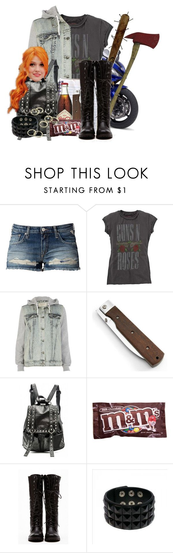 """Phoenix Inspired Outfit [The Walking Dead]"" by grandmasfood ❤ liked on Polyvore featuring Yamaha, Replay, River Island and Candie's"