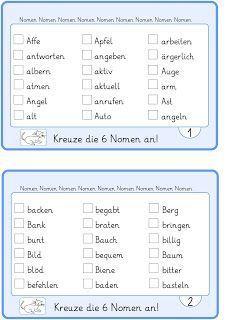 Kartei zu den Nomen