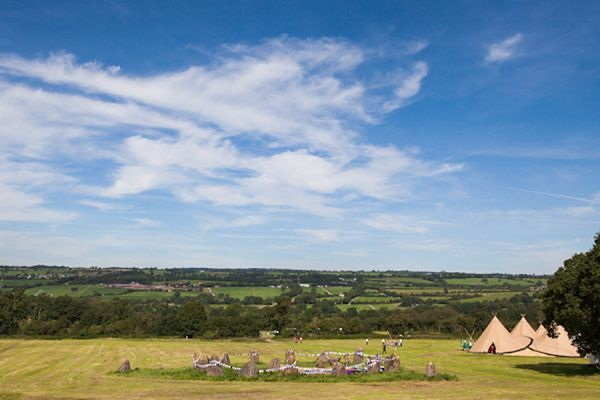 Glastonbury Stone Circle with World Inspired Tents - special.  Images by http://www.greenphotographic.co.uk/