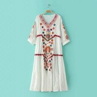 Style: Europe and the United States Pattern: Flower Embroidery / embroidery Stock type: single Combi