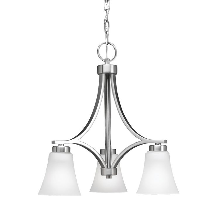 Shop portfolio 34395 3 light colony west brushed nickel chandelier at lowes canada find our selection of chandeliers at the lowest price guaranteed with