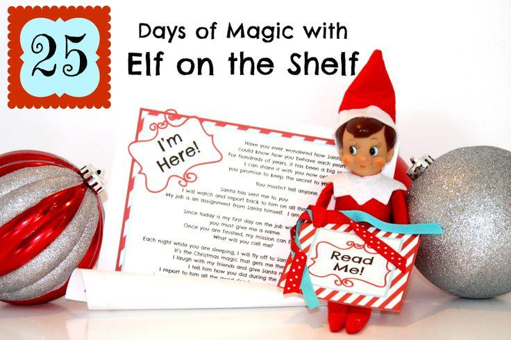 cute elf on the shelf page