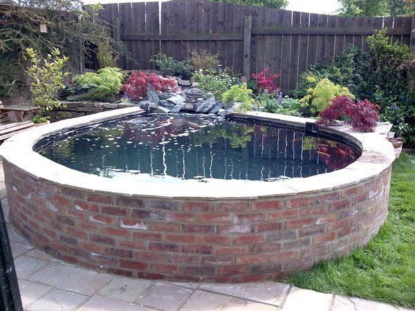 raised koi pond garden small fish pond landscape | Garden Pond | Clearwater Ponds