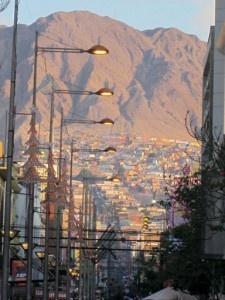 Antofagasta, Chile, at twilight