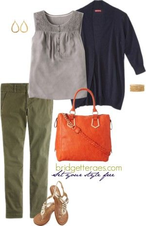 "I LOVE olive pants in the summer. They're versatile, match any color and are more figure flattering than khaki. On the fence about olive pants. This post in today's ""One Item, Five Fashionable Ways"" will change your mind."