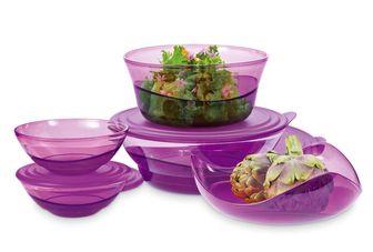 Tupperware Eleganzia pink, lila oder blau -Alles außer die Schale