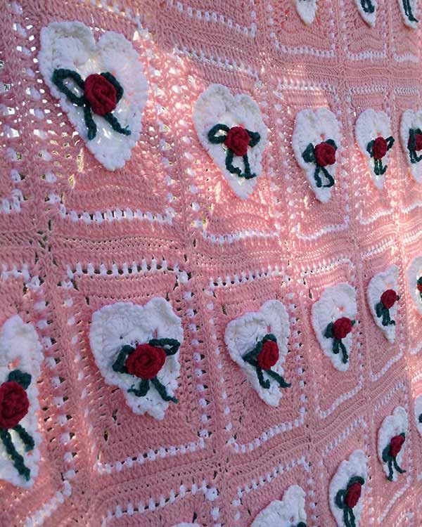 Valentine's Day Afghan & Pillow Set Crochet Pattern