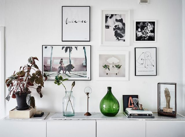 Gallery wall in a relaxed Swedish home