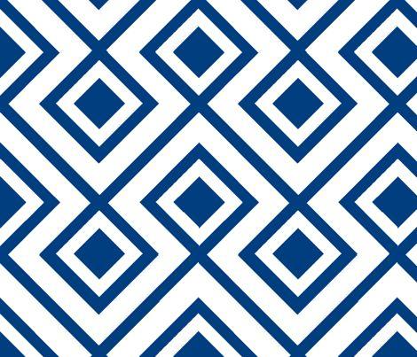 Connect the Blocks-Navy: Colors Patterns, Honeyfitz, Custom Fabrics, Honey Fitz, Spoonflower, White Fabrics, La Fiorentina, David Hicks, The Blocks